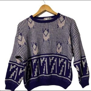 Vintage Crewneck Knit Sweater size S